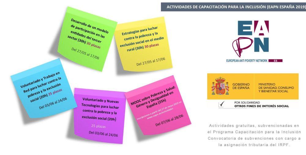 MOOC sobre Voluntariado y trabajo en RED para luchar contra la pobreza y la exclusión social (20h)