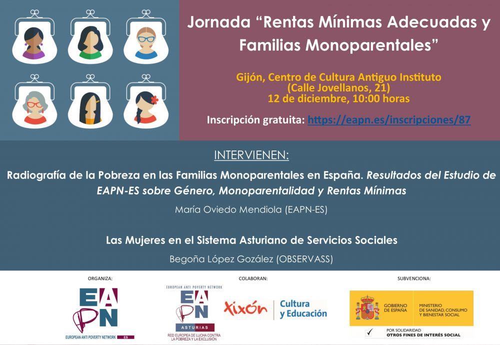 """Gijón_12/12/2019_Jornada """"Rentas Mínimas Adecuadas y Familias Monoparentales"""""""