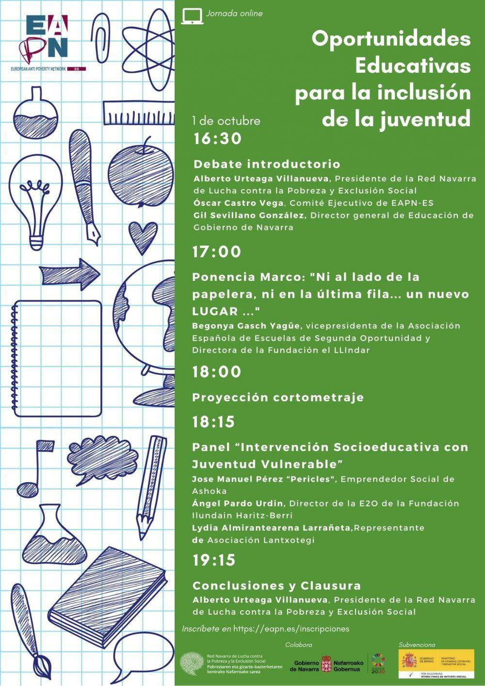 """01/10/2020_Seminario: """"Oportunidades Educativas para la Inclusión de la Juventud"""""""