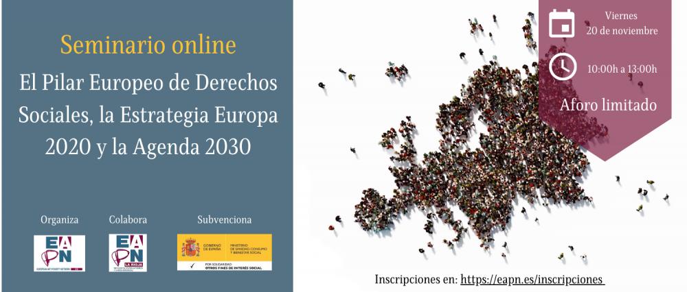 """20/11/2020_Seminario: """"El Pilar Europeo de Derechos Sociales, la Estrategia Europa 2020 y la Agenda 2030"""""""