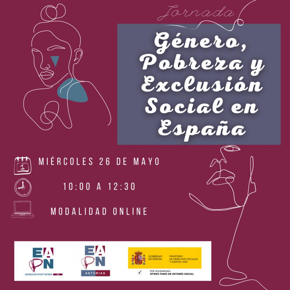 """26/05/2021_Jornada: """"Género, Pobreza y Exclusión Social en España"""""""