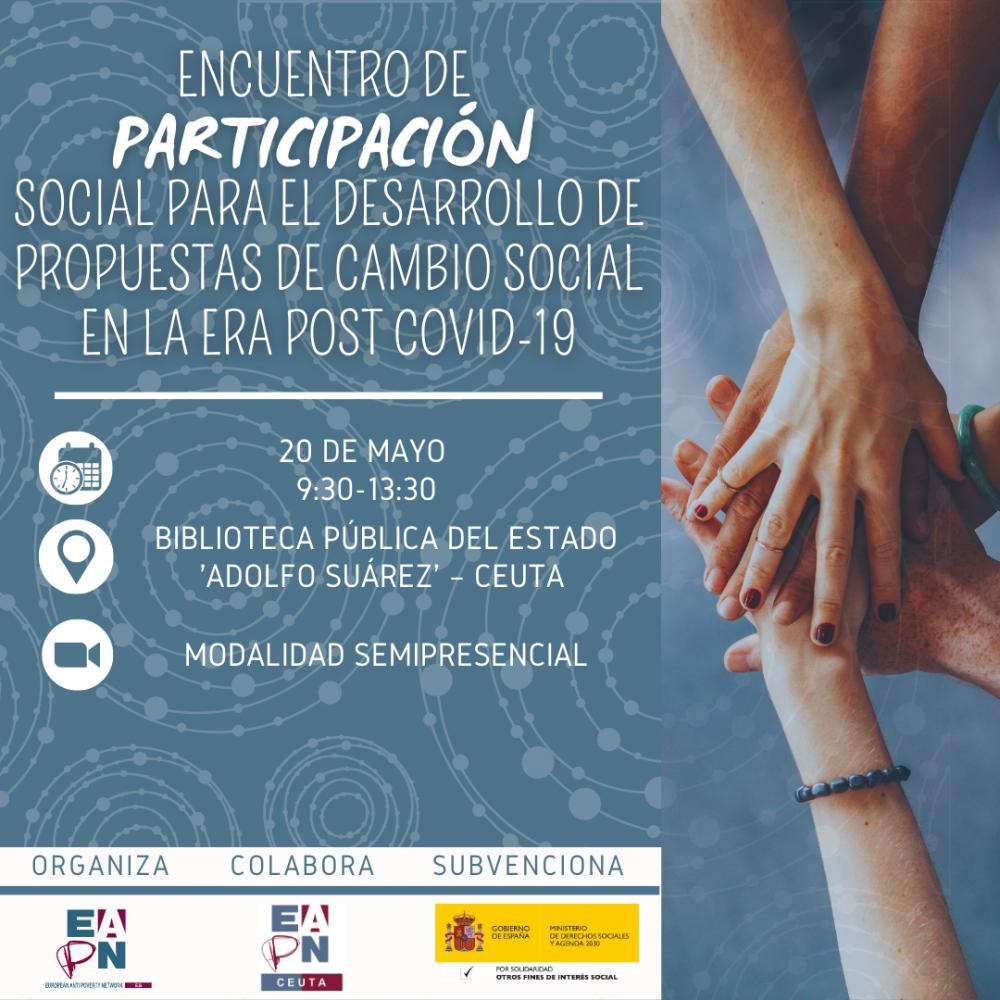 """20/05/2021_Ceuta_""""Encuentro de participación para el desarrollo de propuestas de cambio social en la era post COVID-19"""""""