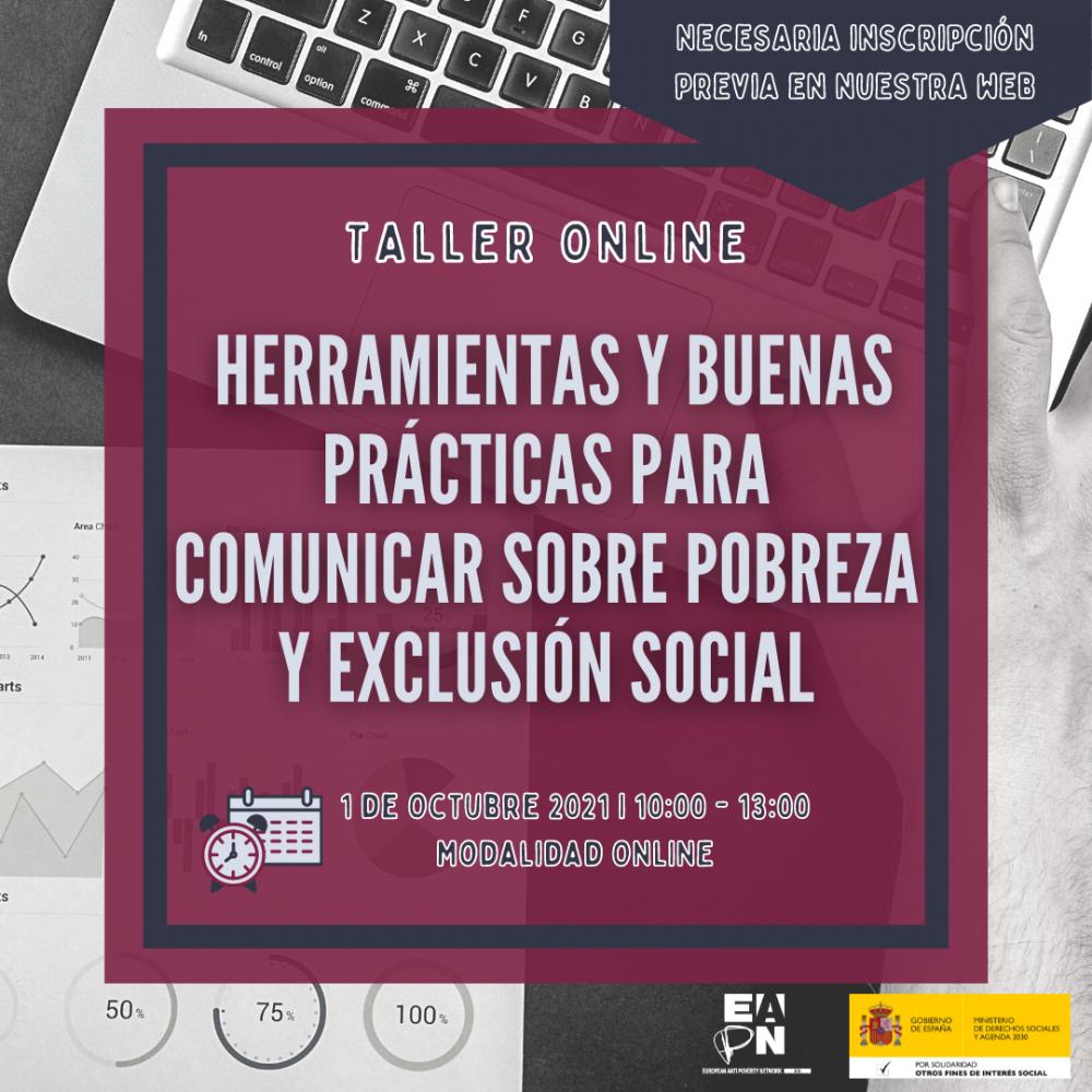 """01/10/2021_Taller: """"Herramientas y Buenas Prácticas para Comunicar sobre Pobreza y la Exclusión Social"""""""